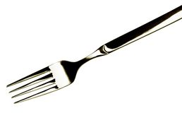 Fork on white Stock Photography
