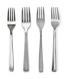 Fork   on white. Fork  on white background Stock Photography
