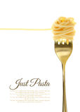 Fork With Just Spaghetti Royalty Free Stock Images