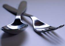 Fork y cuchara Foto de archivo libre de regalías