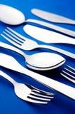 Fork y cuchara del cuchillo Fotografía de archivo