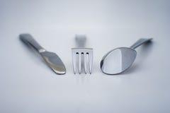 Fork y cuchara del cuchillo Imagen de archivo libre de regalías