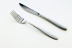 Fork y cuchillo Fotos de archivo libres de regalías