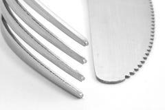 Fork y cuchillo Foto de archivo libre de regalías