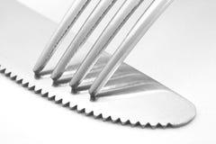 Fork y cuchillo Imagenes de archivo