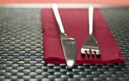 Fork y cuchillo Imagen de archivo libre de regalías