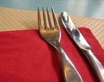 Fork y cuchillo Fotografía de archivo libre de regalías
