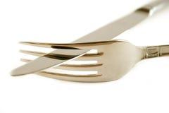 Fork y cuchillo Imágenes de archivo libres de regalías