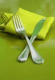 Fork y cuchillo Fotografía de archivo