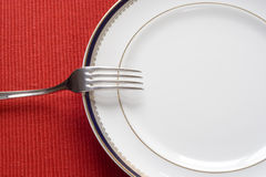 Fork y placa Imagen de archivo
