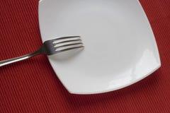 Fork y placa Foto de archivo