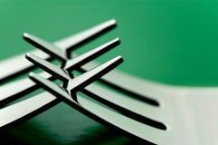 Forkes de los cubiertos Fotos de archivo