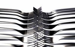 Forkes en blanco Fotografía de archivo libre de regalías
