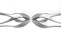 forkes en el vector blanco Fotos de archivo libres de regalías