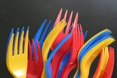 Forkes multicoloras Fotografía de archivo libre de regalías