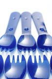 Forkes plásticas Fotografía de archivo