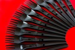 Forkes plásticas Imagen de archivo