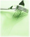 Forkes verdes Imágenes de archivo libres de regalías