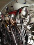 Forkes y cucharas Foto de archivo