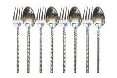 Forkes y cucharas Imagenes de archivo
