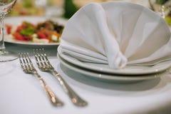 Forkes y servilletas Fotografía de archivo libre de regalías