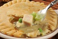 Forkful пирога бака цыпленка Стоковое Изображение