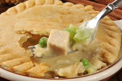 Forkful of chicken pot pie Stock Image