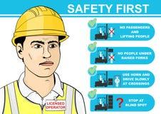 Forklift ασφάλεια ελεύθερη απεικόνιση δικαιώματος