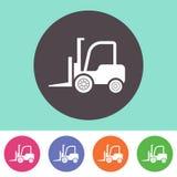 Forklift εικονίδιο φορτηγών Στοκ Εικόνα