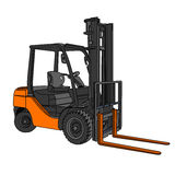 Forklift διάνυσμα Στοκ φωτογραφίες με δικαίωμα ελεύθερης χρήσης