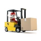 Forklift οδηγός με το φορτίο απεικόνιση αποθεμάτων