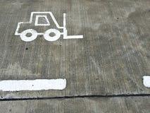 Forklift πάροδος Στοκ φωτογραφίες με δικαίωμα ελεύθερης χρήσης