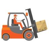 Forklift σημάδι φορτηγών Στοκ Εικόνες