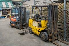 Forklift φορτωτής Στοκ Εικόνες