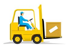 Forklift Foto de Stock Royalty Free