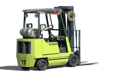 Forklift. A forklift isolated in white background stock images