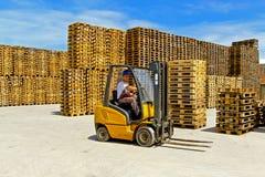 Forklift fotografia royalty free