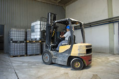 Forklift fotografia de stock royalty free