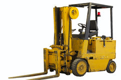 Forklift. Industrial forklift vehicle isolated on white with clipping path Stock Image