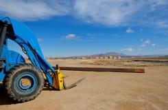 Forklift. Blue forklift Stock Image