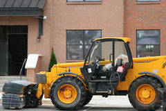 Forklift. Heavy construction forklift at jobsite Stock Photos