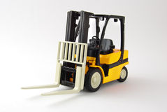 Forklift. Isolated on white background royalty free stock photos