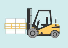Forklift bale clamp Stock Images