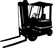 Forklift black. Vector illustration of an forklift icon Royalty Free Stock Photos