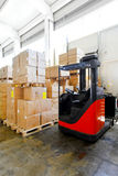 Forklift boxes Royalty Free Stock Photo