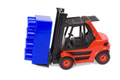 Forklift with a brick Stock Image