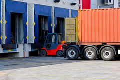 Forklift cargo Royalty Free Stock Photo