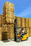 Forklift cargo Royalty Free Stock Photos