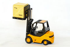 Forklift cargo Stock Images