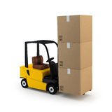 Forklift with cargo Stock Photo